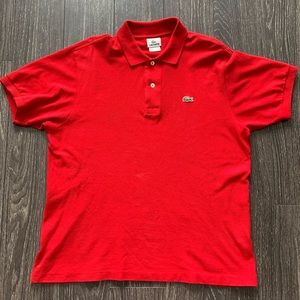 Lacoste Polo - Red, Size 5